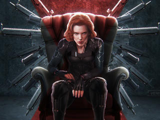 Black Widow New 4k Art wallpaper