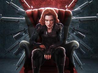 Black Widow New 4k Art wallpaper