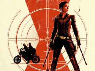 Black Widow Ultra HD Poster wallpaper
