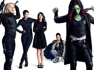 Black Widow, Valkyrie, Gamora And Wasp In Avengers Infinity War wallpaper