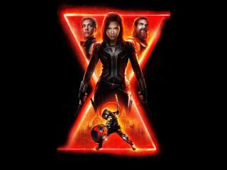 Black Widow vs Taskmaster Poster wallpaper