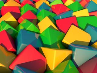 blocks, many, color wallpaper