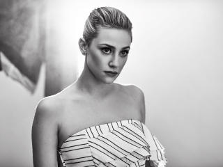 Blonde Lili Reinhart Monochrome Black And White wallpaper