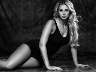 blonde Sexy Women Monochrome wallpaper