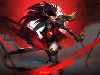 Blood Moon Akali League Of Legends wallpaper