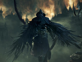 Bloodborne Dark Souls Wings wallpaper