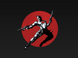 Bloodshot Art 5K wallpaper