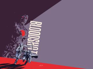 Bloodshot Artwork Minimal wallpaper