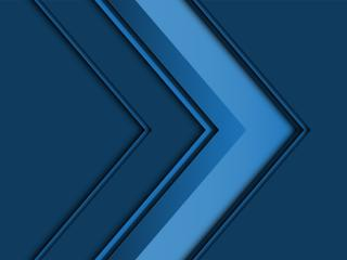 Blue Artistic Right Arrow wallpaper