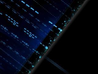 blue, black, matrix wallpaper
