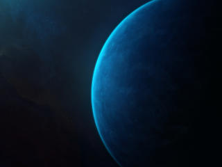Blue Dark Moon wallpaper