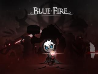 Blue Fire wallpaper