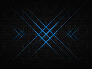 Blue Flash Hexagon 4K wallpaper