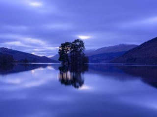 HD Wallpaper | Background Image Blue Hour on Loch Tay in Kenmore