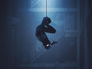 Blue Spiderman Artwork wallpaper