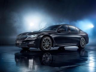 HD Wallpaper | Background Image BMW 750i Black Ice Edition 2017