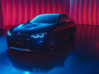 BMW M4 Neon Color Art wallpaper