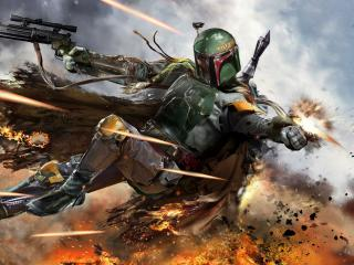 Boba Fett Digital Art wallpaper