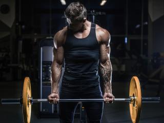 Bodybuilder Man with Tatoo wallpaper