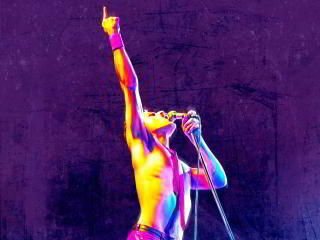 Bohemian Rhapsody Rami Malek as Freddie Mercury wallpaper