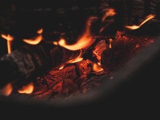 bonfire, fire, coals wallpaper
