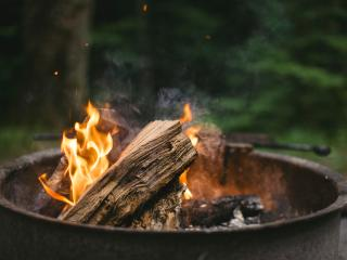 bonfire, timber, fire wallpaper