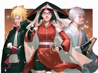 Boruto, Mitsuki and Sarada Boruto wallpaper