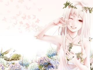 bouno satoshi, art, girl wallpaper