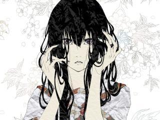bouno satoshi, girl, art wallpaper