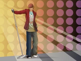 boy, style, microphone wallpaper