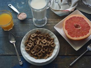 breakfast, grapefruit, juice wallpaper
