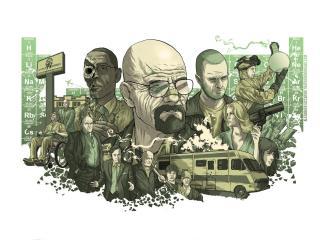 breaking bad, characters, heisenberg wallpaper