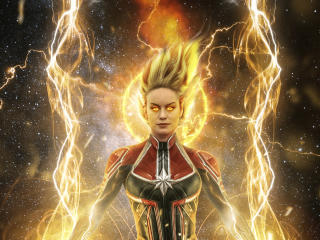 Brie Larson 2018 Captain Marvel Artwork wallpaper