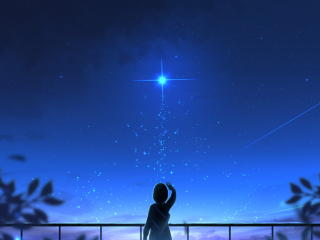Broken Girl Looking At Sky wallpaper