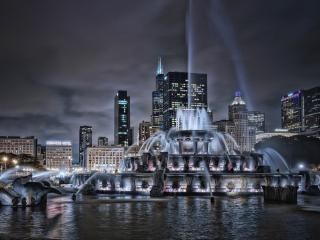Buckingham Fountain Fountain Chicago wallpaper