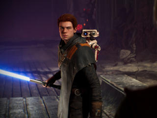 Cal Kestis and BD-1 Star Wars Jedi Fallen Order wallpaper