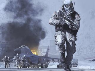 Call Of Duty Modern Warfare 2 Soldiers in Snow wallpaper