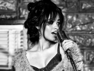 Camila Cabello Monochrome wallpaper