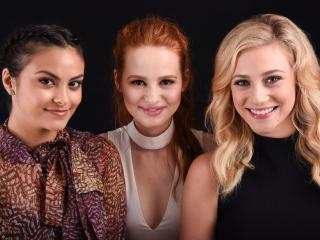 Camila Mendes, Lili Reinhart Madelaine And Petsch From Riverdale Show wallpaper
