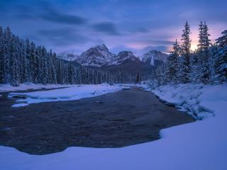 Canada Canadian Rockies in Winter wallpaper
