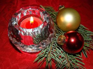 candle, christmas decorations, balloons wallpaper