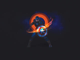 Captain America 4K Digital Art wallpaper