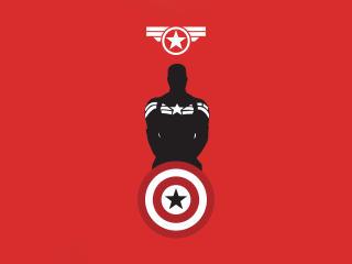 Captain America 4k Minimalist wallpaper
