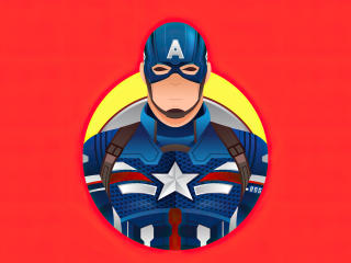 Captain America 4k Red Minimalist wallpaper