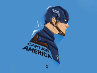 Captain America 5K Minimalist wallpaper