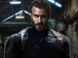 Captain America Beard Look In Infinity War wallpaper