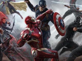Captain America Civil War Teams Poster wallpaper