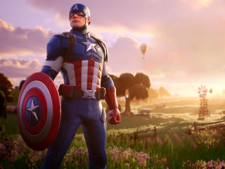 Captain America Fortnite wallpaper