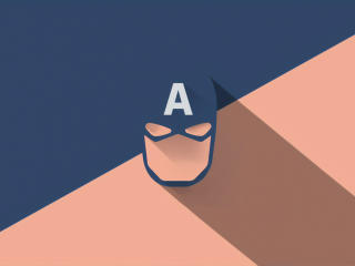 Captain America Mask Minimal wallpaper