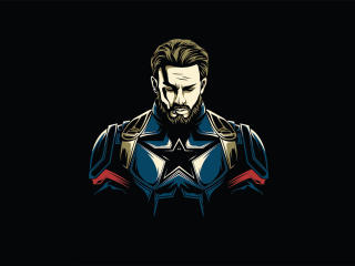 Captain America Minimalist Design wallpaper